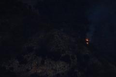 Début d'incendie sur la colline opposée